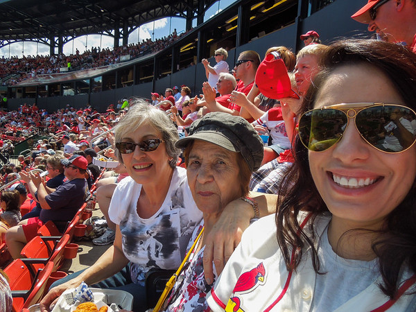 Cardinals 2016 with Mom