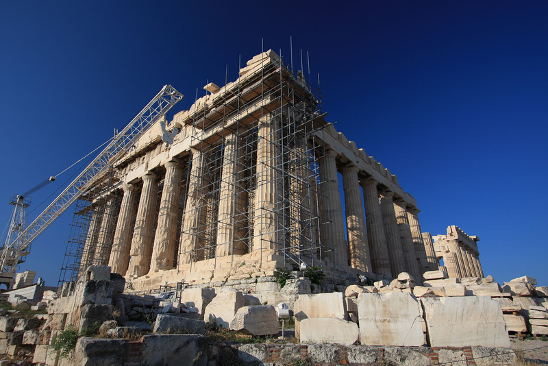 Parthenon: The crowning architectural achievement of Pericles.