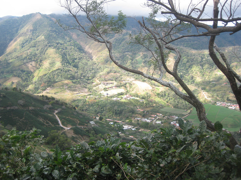 Looking down to the village of salitral.