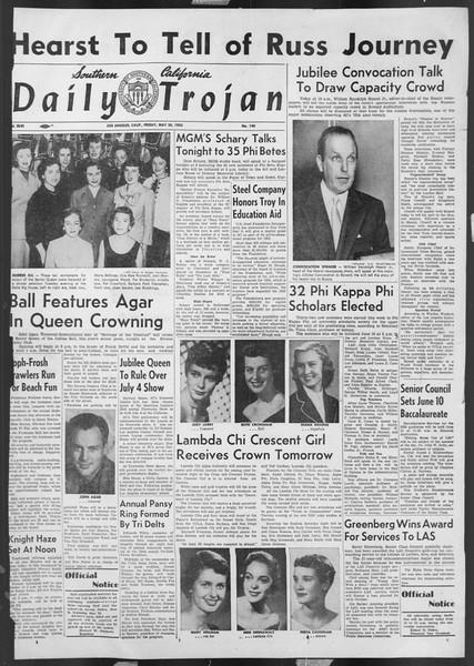 Daily Trojan, Vol. 46, No. 140, May 20, 1955