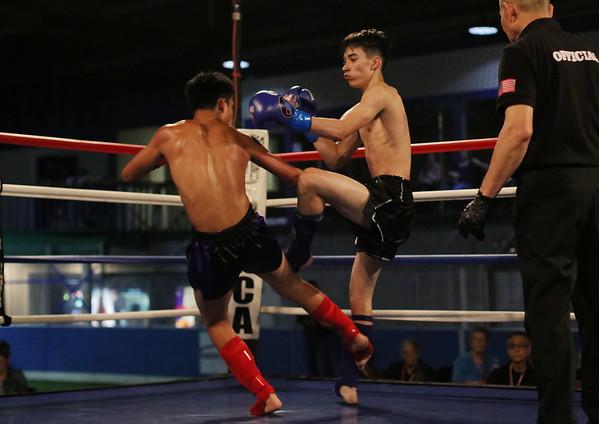 Preston Sroeuy (red) vs. Anthony Agonallo (blue)
