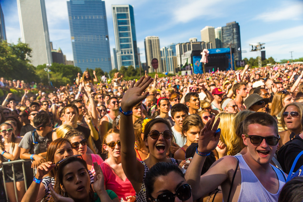 . The crowd at the Red Bull Sound Select Stage for The National