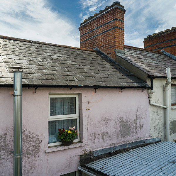Rooftop chimney of house, Londonderry, Northern Ireland, Ireland