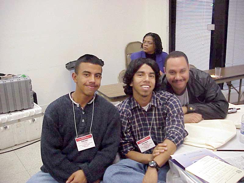 Youth participants Amado Cortes and Enrique Cortes Central City Lutheran Mission, San Bernardino, Calif., and the Rev. Nelson Rabell-Gonzalez, Getsemani Lutheran Church, Dorado, Puerto.