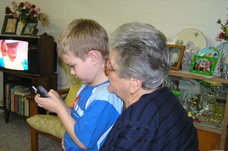 Lachlan (left) and my Grandmar