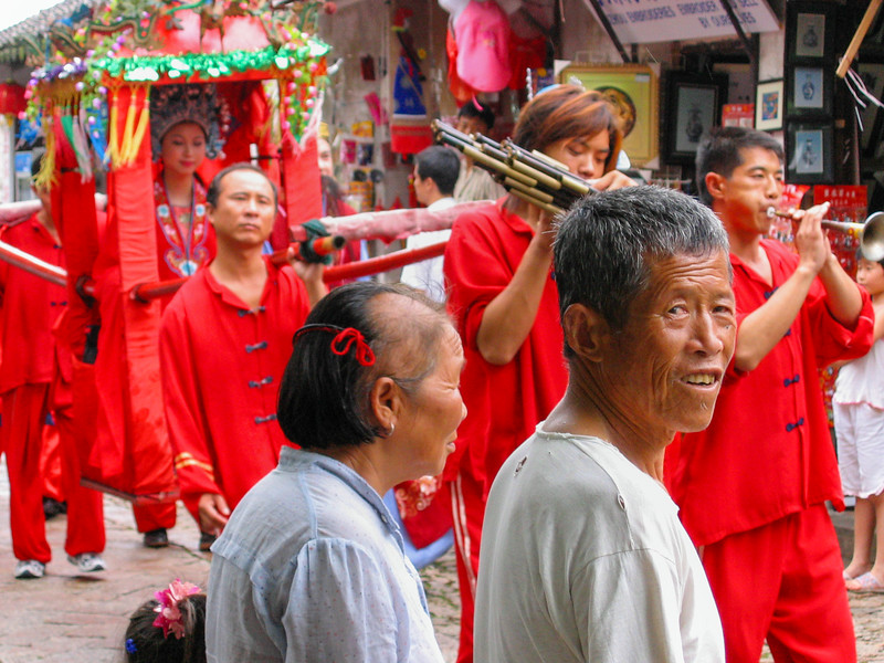 Wedding procession in Suchou, China, 2004