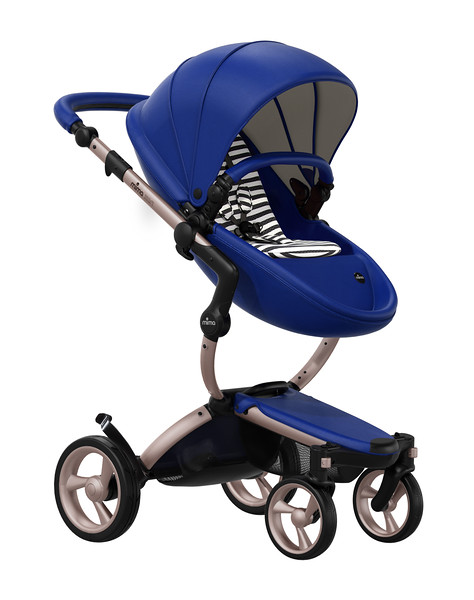 Mima_Xari_Product_Shot_Royal_Blue_Rose_Gold_Chassis_Black_And_White_Stripe_Seat_Pod.jpg