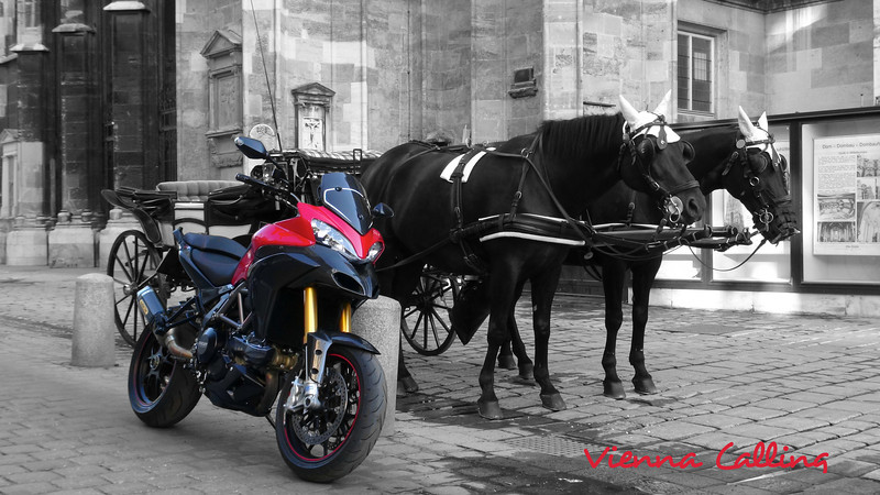 'Vienna Calling' by www.multistrada.at founder Piero Piero's custom modified Multistrada 1200S Sport - modifications / parts list as long as your arm! More details here