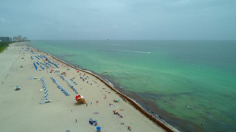 Travel footage of Miami Beach