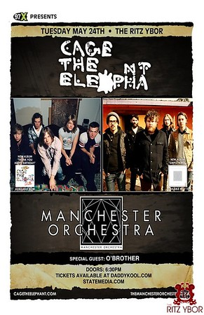 Manchester Orchestra & Cage The Elephant May 25, 2011