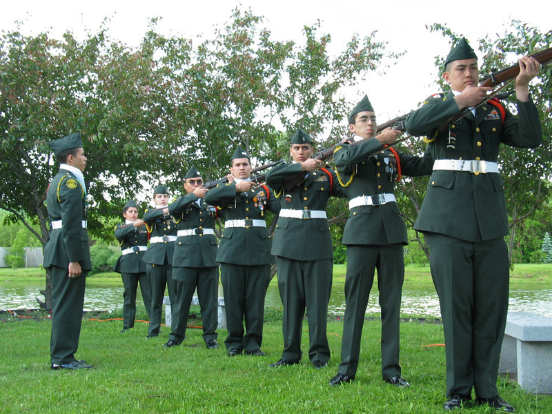 Lane Tech High School ROTC Firing squad