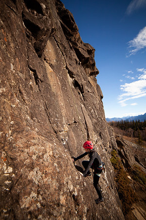 Late Season Climbing at Purinton Creek