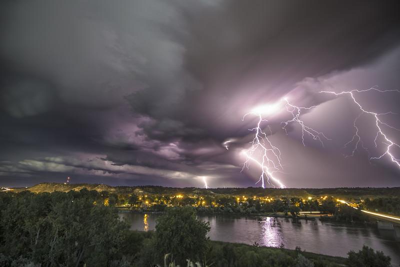 Thunderstorm over Forsyth