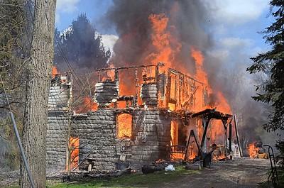 Ross Township residential structure fire Milbert Lane