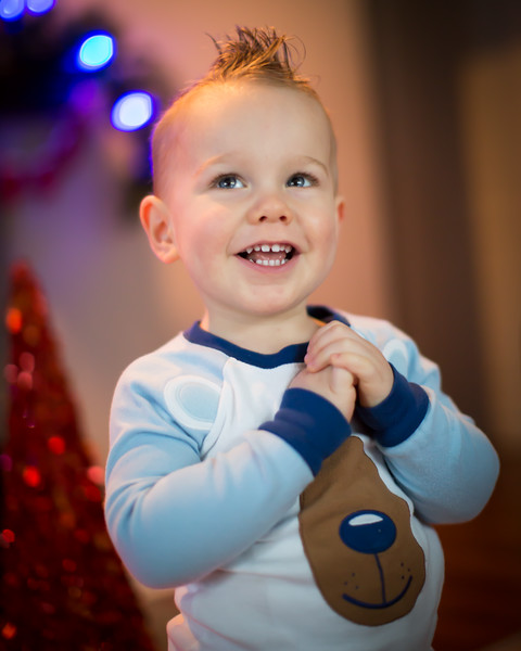Noah Christmas and 2yr
