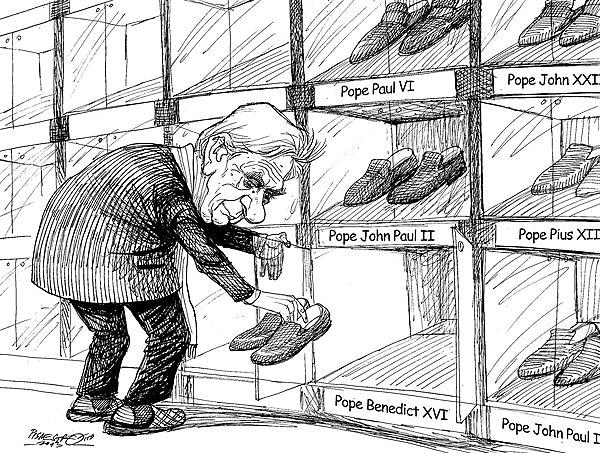 . karikatur für tribüne-schuhschrank