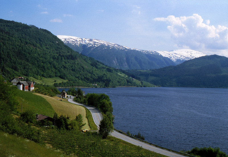 Granvinsvatnet - Where Road 572 meets Hiway 13, Norway - June 15, 1989