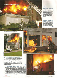 Firehouse Magazine (Firefronts/Hot Shots) February 2010