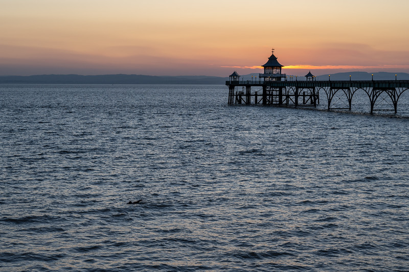 Swimming at Clevedon Pier