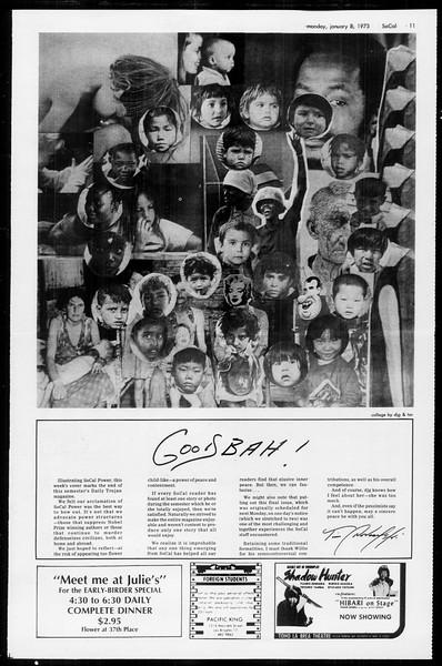 Socal, Vol. 65, No. 61, January 08, 1973