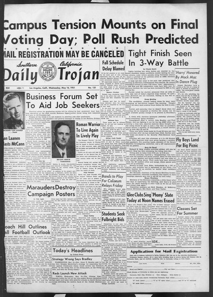 Daily Trojan, Vol. 42, No. 131, May 16, 1951