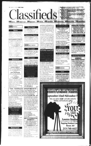 Daily Trojan, Vol. 150, No. 27, October 03, 2003