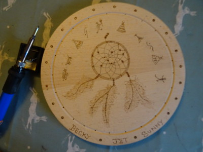 WOODWORK PYROGRAPH ART BY ME