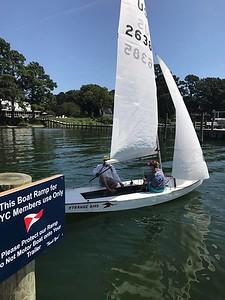 First Sail on Strange Bird Snipe