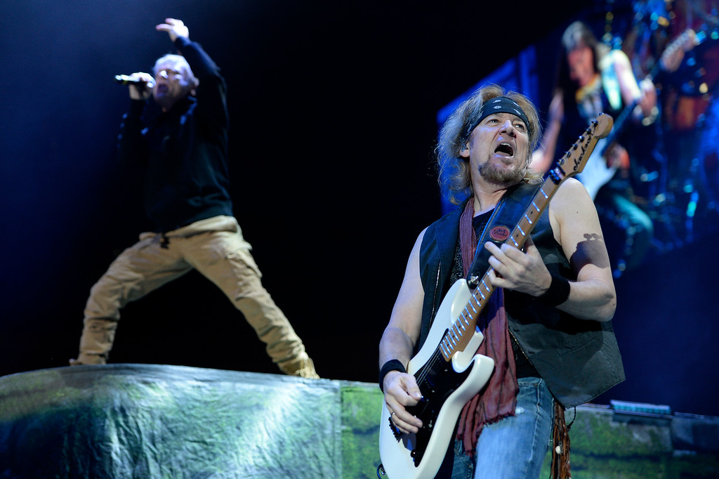 . Iron Maiden performs at the Pepsi Center in Denver, Colorado on April 13, 2016. (Photo by Seth McConnell/The Denver Post)
