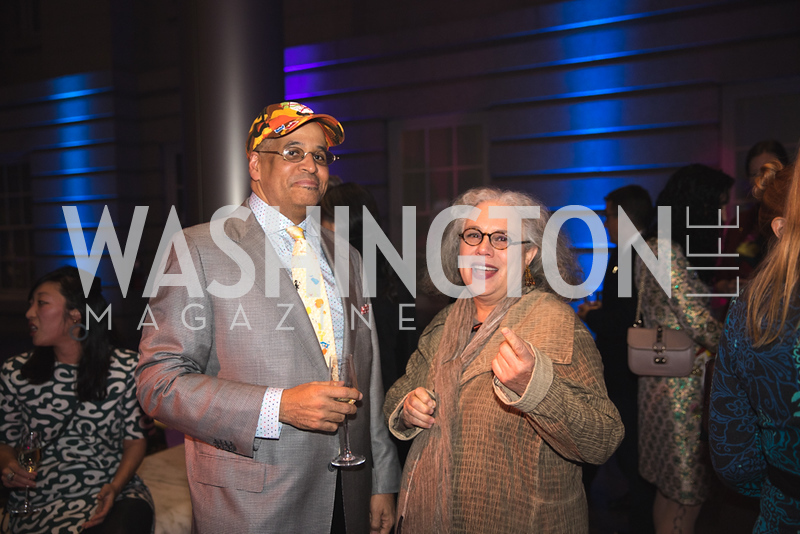 "Lyndon Barrois, Alison Saar. Photo by Bruce Allen. National Portrait Gallery ""Face Forward"" Artist Party."