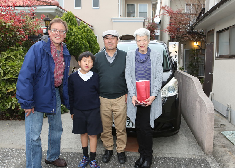 Our next door neighbors at the WFC - the Tonomuras including Tsubasa kun next to Kent and his Grandfather next to Sarah.