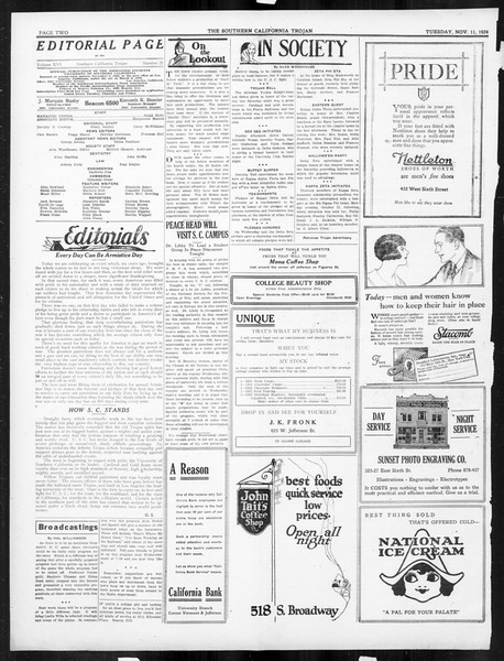 The Southern California Trojan, Vol. 16, No. 21, November 11, 1924