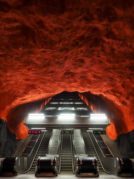 Solna Centrum metro station in Stockholm