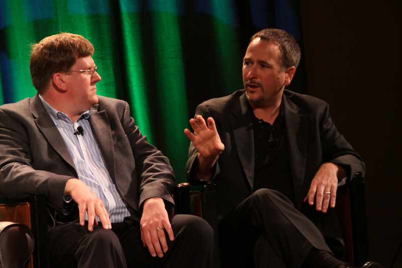 """FiRe CTO Design Challenge"": Ty Carlson (L), Architect, SiArch Group, Microsoft; and Joe Burton, CTO, Cisco"