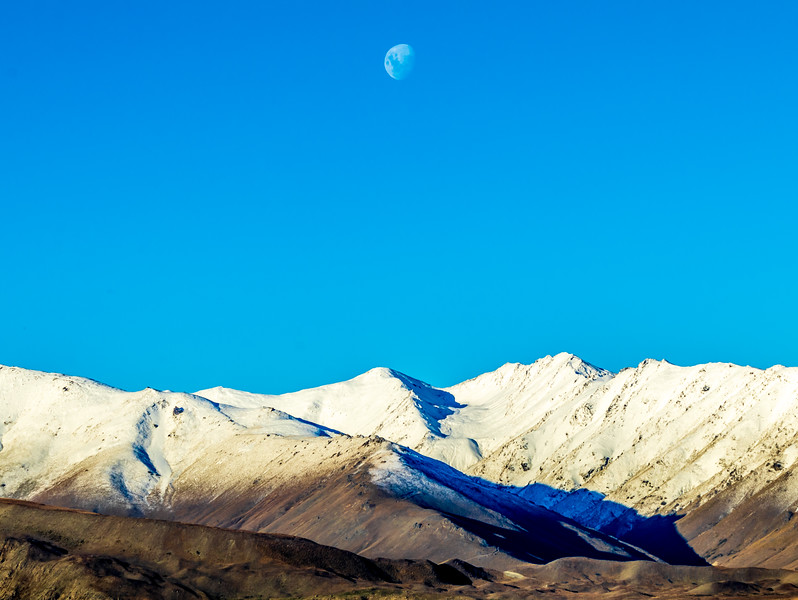 Cold Moon over Southern Alps