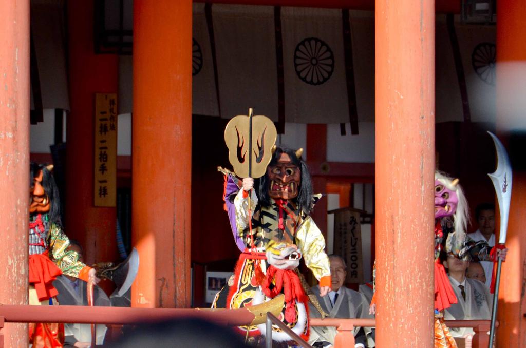 Demons overtaking Heian Shrine