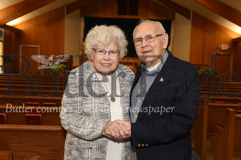 "Harold Aughton/Butler Eagle: Pastor David and Zelma ""Mickey"" FisherThye have been married for 70 years"