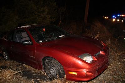 Late Night Crash into Woods, SR209, Tamaqua (1-29-2012)