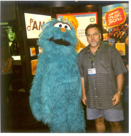 Daddy eith Rosits from Sesame Street