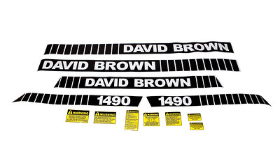 DAVID BROWN 1490 SERIES BONNET DECAL SET