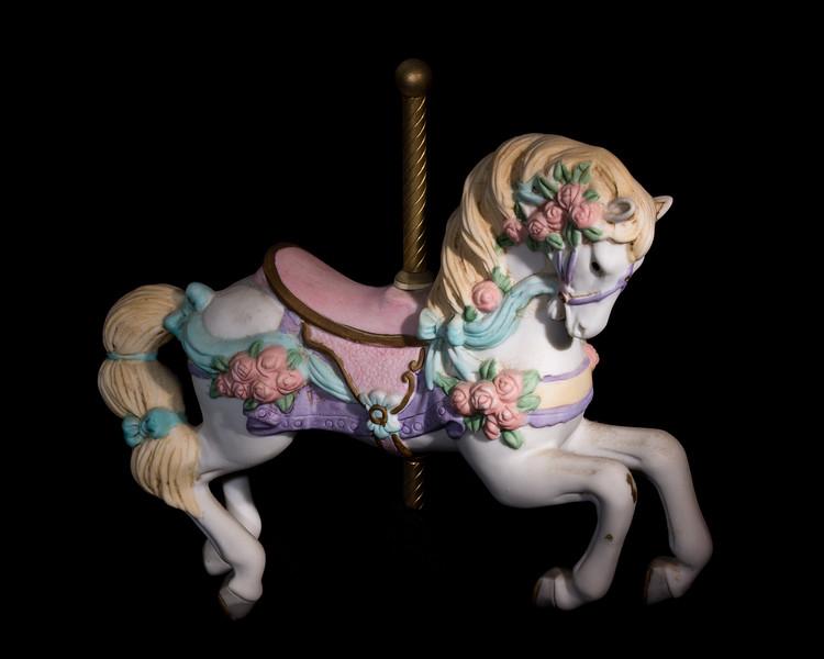 Music box carousel horse (color)