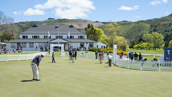 Practice Day 1 of the Asia-Pacific Amateur Championship tournament 2017 held at Royal Wellington Golf Club, in Heretaunga, Upper Hutt, New Zealand from 26 - 29 October 2017. Copyright John Mathews 2017.   www.megasportmedia.co.nz