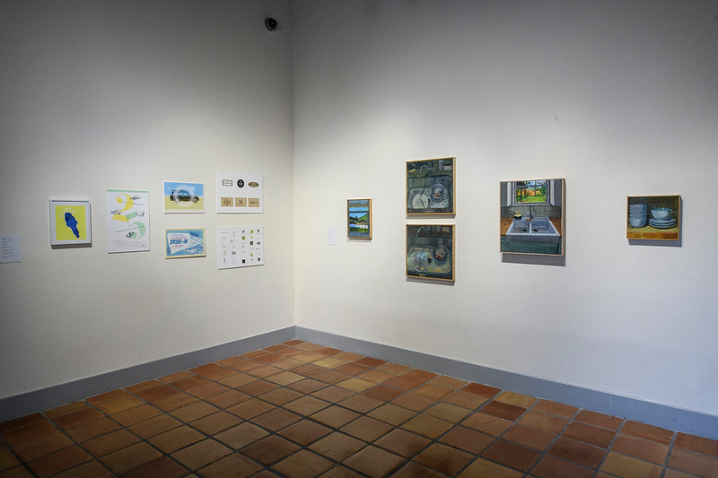 Chris Smith (left), and Sara Pedigo (right), installation view