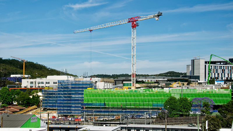 Gosford Hospital building progress November 13, 2018.   (h66ed)