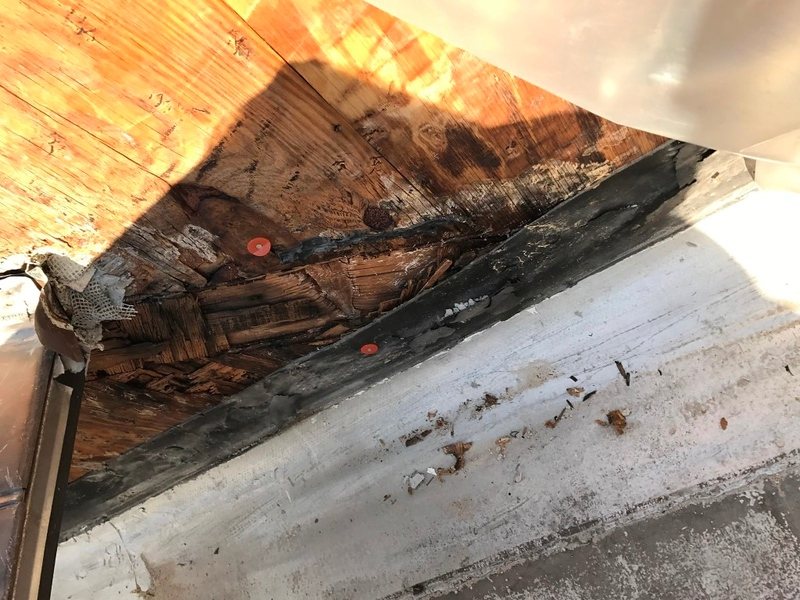 Rotten Soft Plywood Images - 508 Highland Park IL - 2017