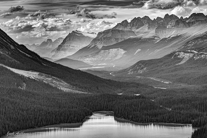 Peto Lake in the Canadian Rockies