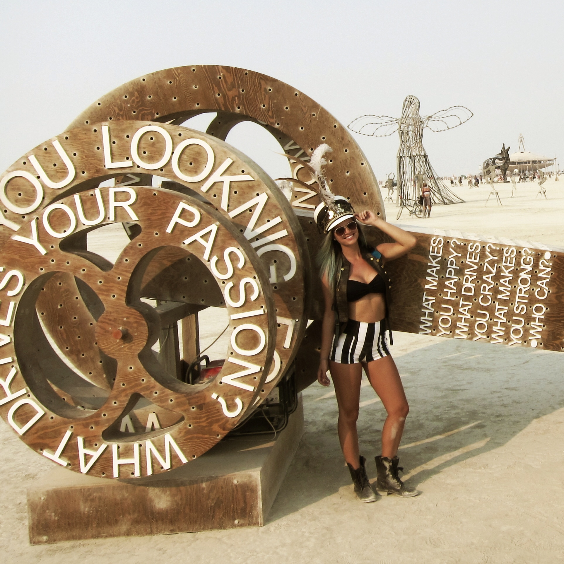 The Blonde Abroad at Burning Man