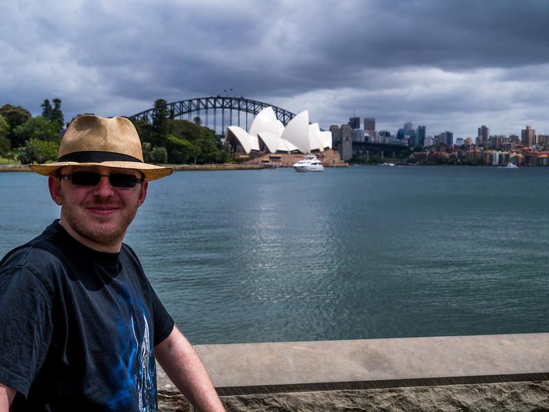 Jonty in front of the Sydney Opera House