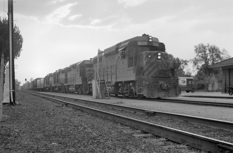 D&RGW passing through Provo. May 22, 1965. <i>(Marvin Black Photo)</i>