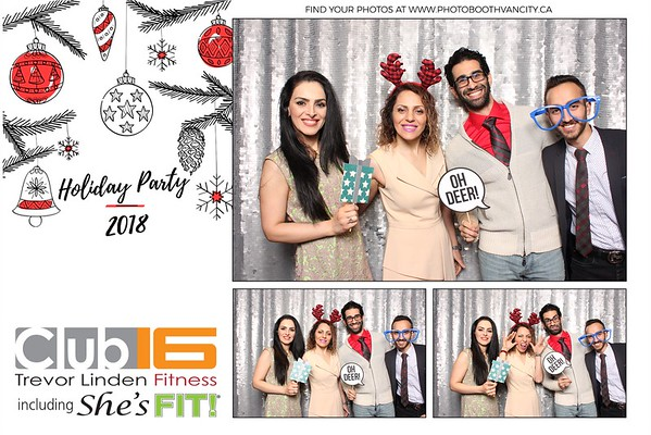 Club 16 Holiday Party 2018